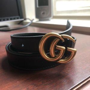 Authentic black gucci belt